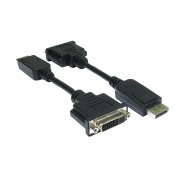DisplayPort To DVI Cable - 15cm